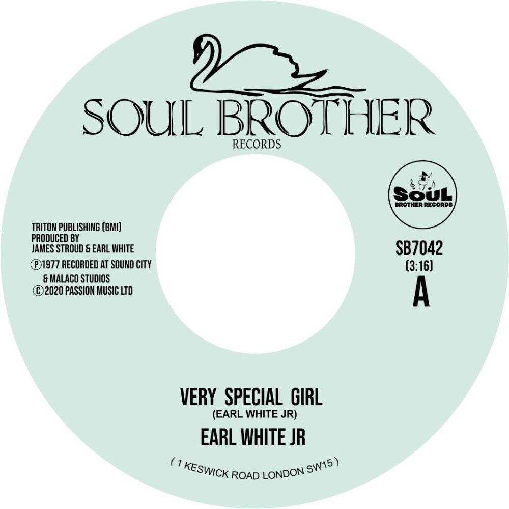 Earl White Jr, Very Special Girl/ Never Fall In Love Again